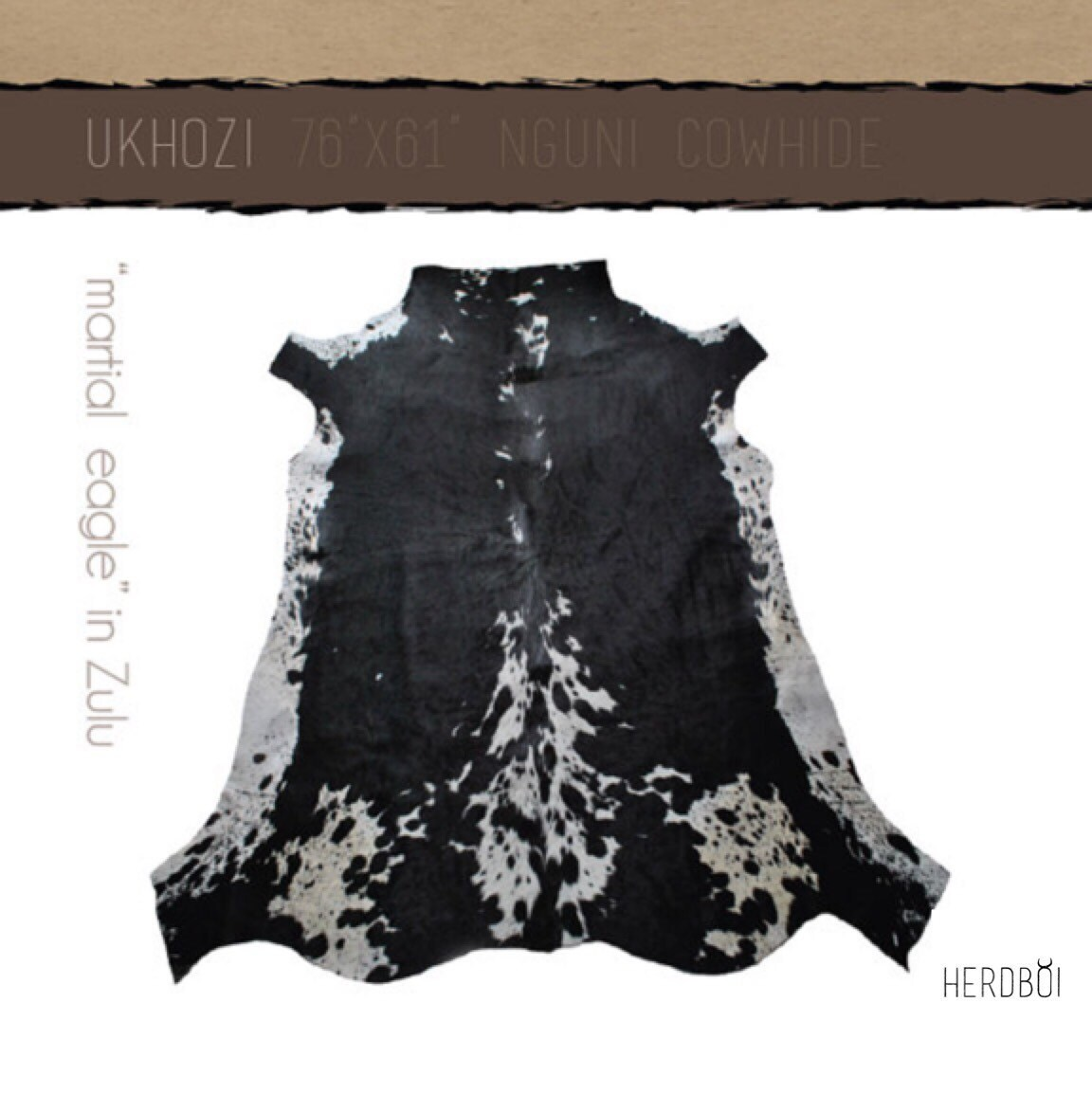 Cowhide rug nguni cow hide rug cow skin carpet black and white for African skin decoration