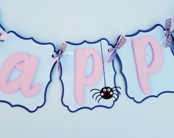 Charlotte's Web inspired  Birthday banner, charlotte's web birthday party decoration, farm theme, barnyard baby shower, first birthday party
