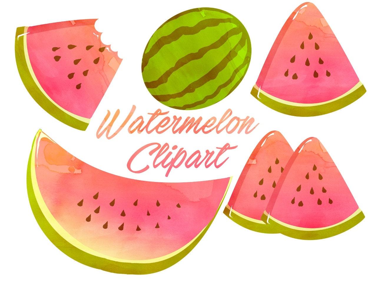 Watermelon clipart Watermelon clip art Watercolor clipart