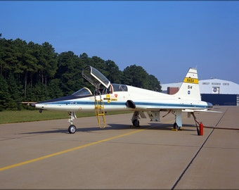 24x36 Poster . Northrop T-38A Trainer Flew At Langley