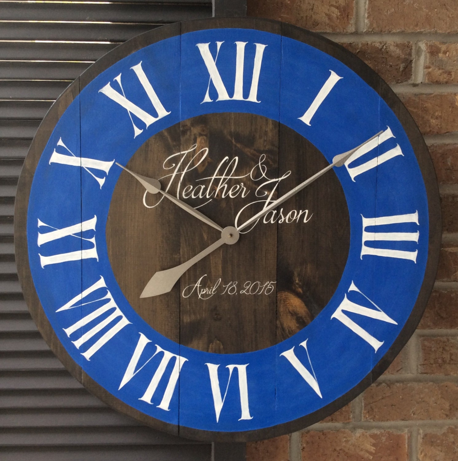 personalized wall clocks custom wall clock by. Black Bedroom Furniture Sets. Home Design Ideas