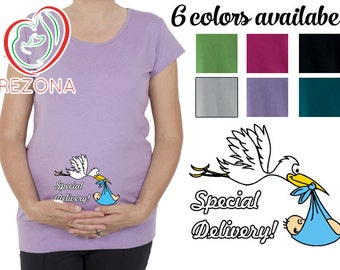 Special Delivery Pregnancy Funny Tshirt - Funny Stork Maternity- Valentine's Day or Baby Shower Gift