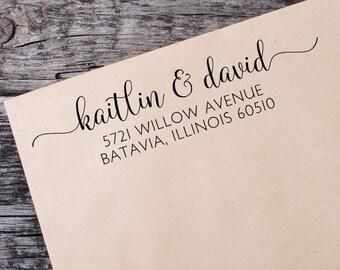 Custom Address Stamp - Self Ink Return Address Stamp - Personalized Address Stamp - Self Inking Address Stamp - Bridal Shower Gift - 105