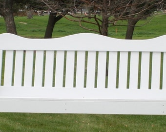 Brand New 5 Foot Painted Decorative White Porch Swing - with Hanging Chain or Rope - Free Shipping