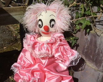 Handmade in the 80's Vintage Clown