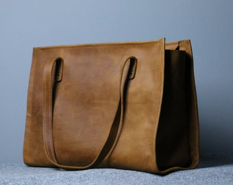 leather tote bag ,handmade leather bag ,tote ,large leather bag,waxed leather bag,borsa di cuoio,