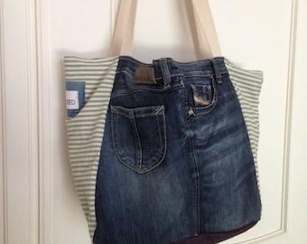 SOLD // DENIM HANDMADE bag