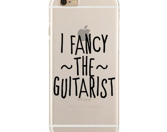 I Fancy The Guitarist - Dibs On The Guitarist - Slim & Transparent case for iPhone - by HeartOnMyFingers - SLIMCASE-068
