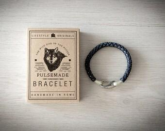 Crab Bracelet men-Women, jewelry for men women, urban blue Navy bracelet-Silver grey-Valentine's Day gift, bracelet for her and him
