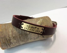 Leather cat collar, personalized cat collar, leather dog collar with name plate, Bordeaux leather collar, personalized leather dog collar ,