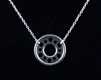 Hard drive disc necklace - computer geek gift - computer geek jewelry - software engineer jewelry - programmer jewelry - software programmer