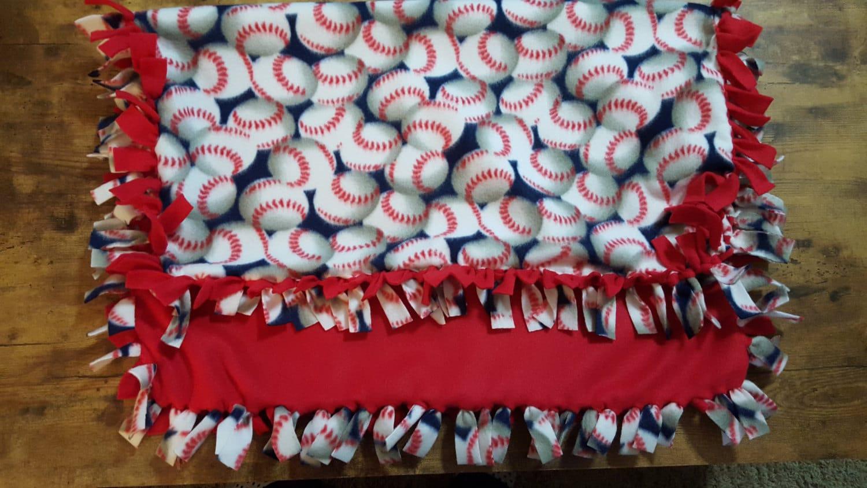 Fleece Blanket Baseball Blanket Knotted Fleece Blanket