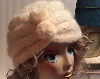 50% Off Sale Vintage Knit Turban Hat/Leona Schmitt