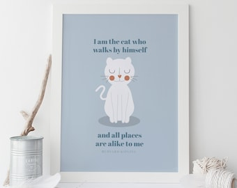 secret cat art cat quote cute cat print high quality giclee print cuddly cats kitten ikea ribba frame ready