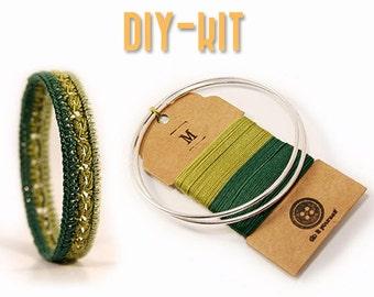 DIY jewelry Kit - DIY bracelet - diy kit - diy gift - crochet kit - crochet supplies - jewelry making kit - diy craft kit - MudenoMade