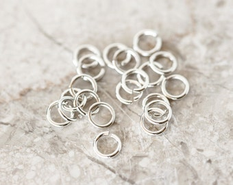 2090_Sterling silver jump rings 5mm, Jewerly connectors, 925 silver jump rings, Open jump rings, Silver findings for jewelry making_20 pcs.