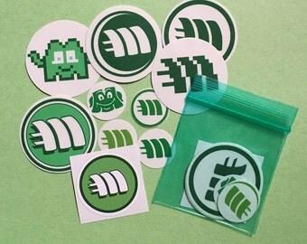 10 mintcoin stickers on vinyl assorted Minty mint bitcoin litecoin crypto fresh