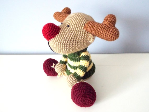 Knitting Patterns For Forest Animals : Crochet reindeer amigurumi forest stuffed animals home decor