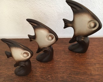 Howard Pierce Set of 3 Angel Fish