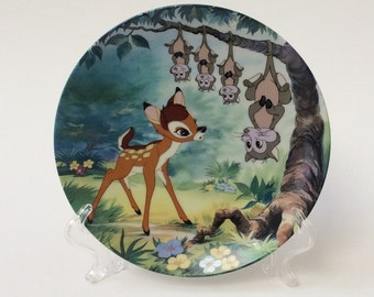 "Disney Bambi Plate, ""What's Up, Possums?"" Knowles Collector Plate, Plate 6 in Series"