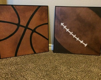 Sports ball paintings