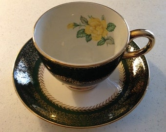 Homer Laughlin Lady Greenbriar Tea Cup & Saucer