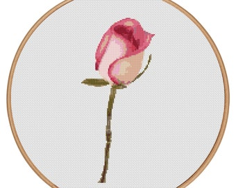 MORE for FREE - Red Rose - Counted Cross stitch pattern PDF - Instant Download - Cross Stitch Pattern - Flowers-Love- Needlepoint #1512
