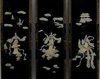 Japanese Mother-Of-Pearl Panels, S/3