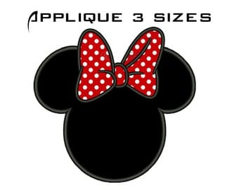 Minnie Embroidery Design Minnie Mouse Embroidery Design Minnie Applique Design Minnie Mouse Applique Design Machine Embroidery No:42