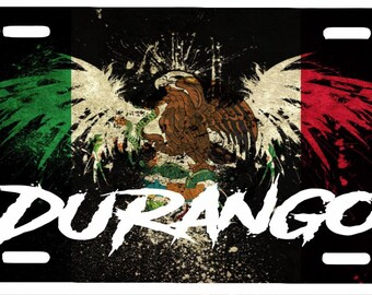 "Durango Aluminum License Plate Placa  6""' x 12"""