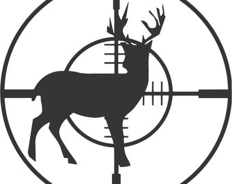 Set (2 Pieces) Deer Hunting Target  Sticker Decals 20 Colors To Choose From.  U.S.A Free Shipping
