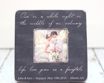 SALE Personalized Engagement Anniversary Wedding Frame Life Gives Us a Fairytale