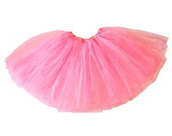Little Girls 3-Layer Ballerina Tulle Tutu - Bubblegum Pink
