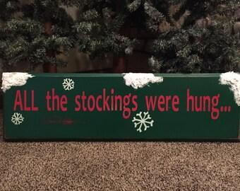 stocking hanger sign