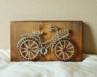 Bicycle With a Basket String Art