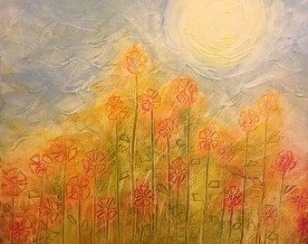 Summer Blooms -  Original Abstract Art