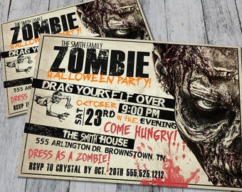 Zombie Invitation (Printable)