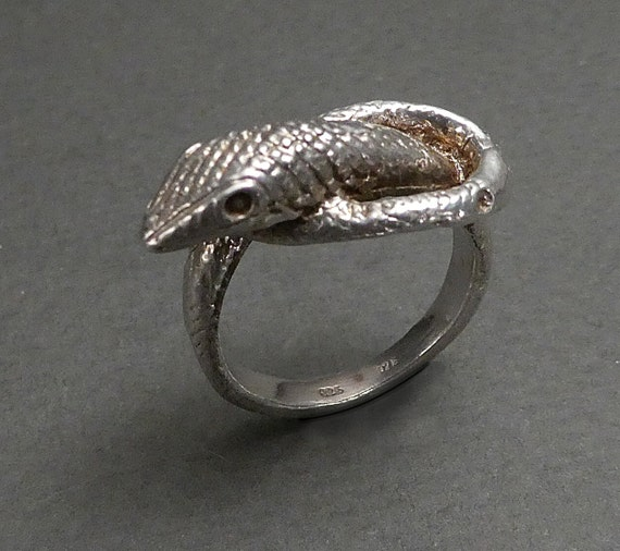 sterling silver snake ring size 6