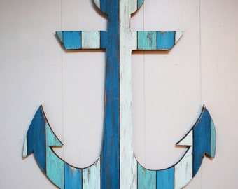 """Painted Wood Anchor 18"""""""