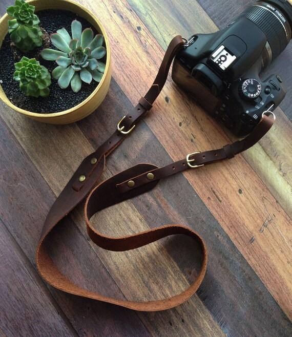 Handmade Leather Adjustable Camera Strap - photo#45