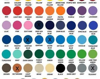 Vinyl Color Chart-Monogram Styles-Designs Options