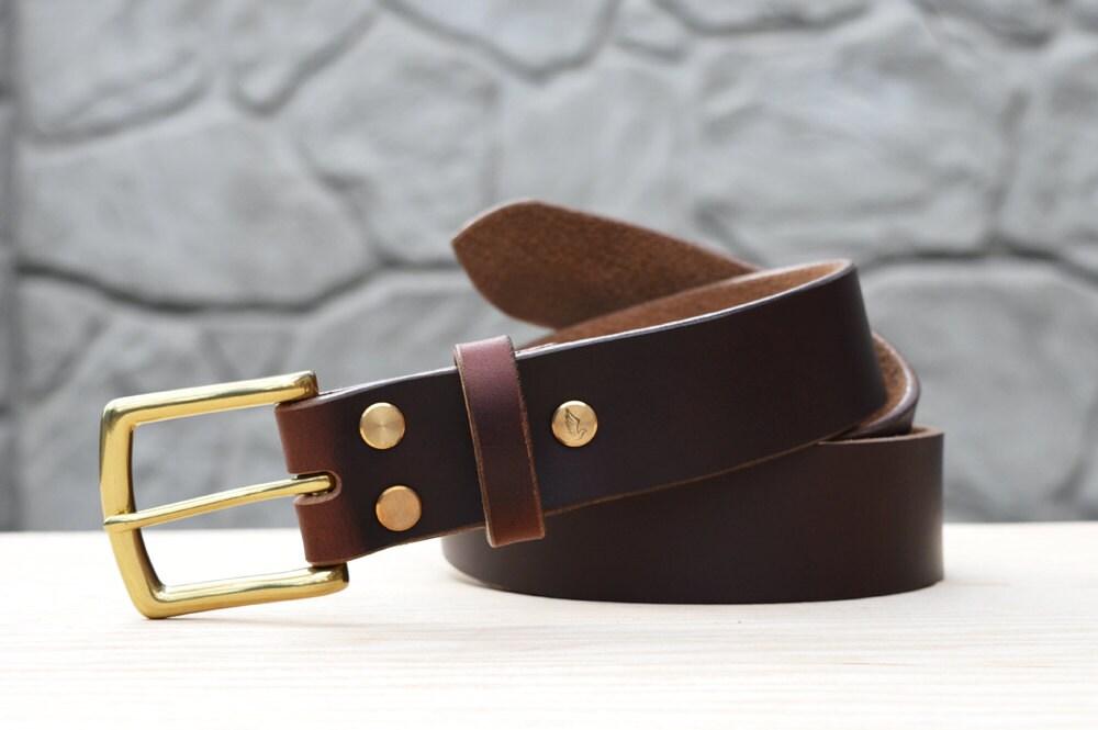 burgundy horween chromexcel leather belt 1 5 width