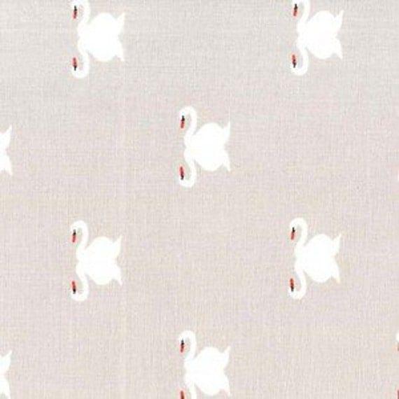 Crib Sheet >> Sommer Swan in Warm Grey >> READY-to-SHIP dove grey baby bedding, swan toddler sheet set, garden bassinet sheet, mini crib