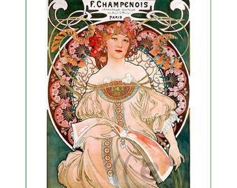 fabric panel - painting by Alphonse Mucha (3)