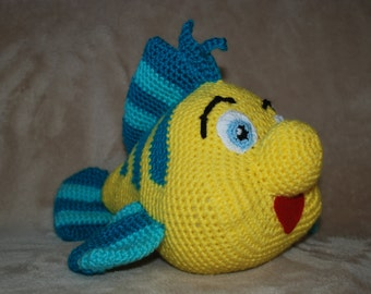 Amigurumi Flounder / Crocheted fish