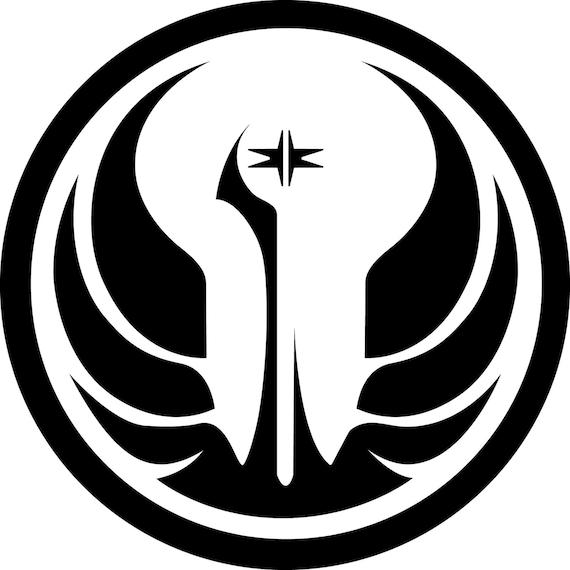 Star wars old republic jedi order logo vinyl sticker window - Republic star wars logo ...