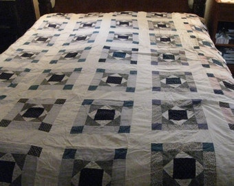 "Vintage Handmade Quilt Top - 81""  by 72"""