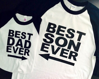 Best Dad Ever Shirt Set - Father Son Shirt Set, father's day gift