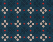 Clearance! 40% Off FQ Picnic Blanket Teal PICNIC Quilting Cotton Fabric Melody Miller