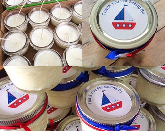 25  4 oz Quilted Mason Jar Favors, Any Occasion, Wedding, Showers, Birthdays